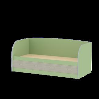 """Кровать с ящиками и спинкой """"Джуниор"""" Зеленый"""