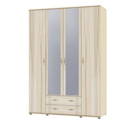 """Шкаф для одежды и белья с зеркалом """"Оскар"""" МДФ Капучино"""