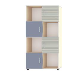 """Шкаф для книг с четырьмя дверьми """"Джуниор"""" Лаванда"""