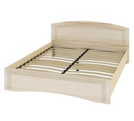 Кровать «ОСКАР» двуспальная 1600 (цвет - Капучино/ Млечный дуб)