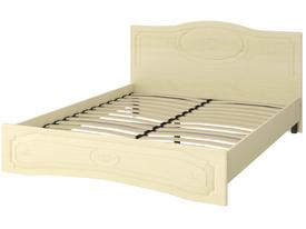 Кровать «ОСКАР» двуспальная 1600 (цвет - Клен/Липа Светлана)