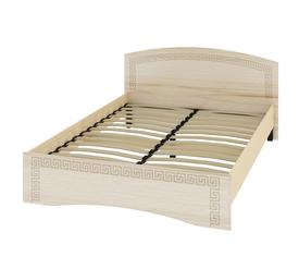 Кровать «ОСКАР» двуспальная 1400 (цвет - Капучино/ Млечный дуб)
