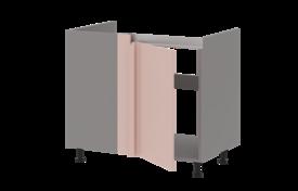 Тумба под мойку угловая (с декоратив. уголком) левая