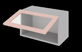 Шкаф низкий горизонтальный 800 со стеклом  h=360