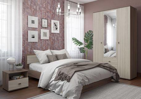 Спальный гарнитур «ОСКАР» (цвет - ясень шимо светлый)