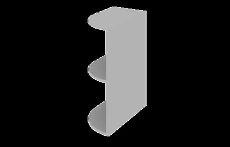 Завершающий элемент нижний открытый радиусный (левый)