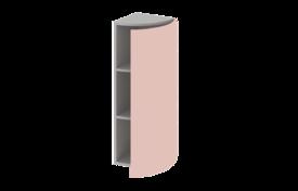 Шкаф завершающий высокий  радиусный