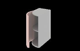 Завершаюший элемент нижний радиусный (левый)