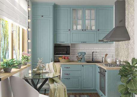 Кухня «КАНТРИ» (цвет - роял вуд голубой)