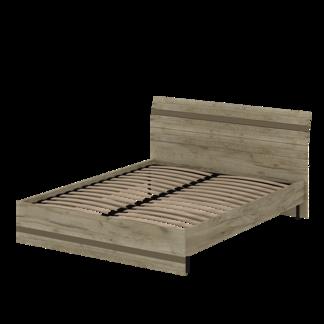 Кровать «АСТИ» двуспальная 1600 (цвет - дуб серый Craft, Базальт)