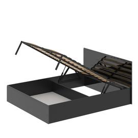 Кровать «ЛАЙТ» двуспальная с подъемным механизмом 1600 (цвет - Черный глянец)