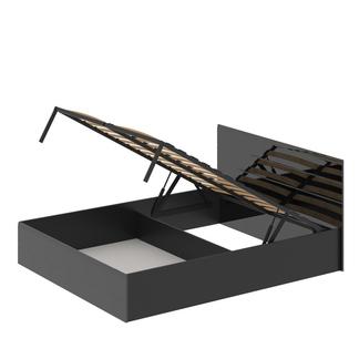 """Кровать 1600 с подъемным механизмом """"Лайт"""" МДФ Черный глянец"""