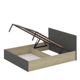 Кровать «ЛАЙТ» двуспальная с подъемным механизмом 1600 (цвет - Серый глянец)