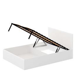 Кровать «ЛАЙТ» двуспальная с подъемным механизмом 1600 (цвет - Белый глянец)