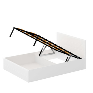 Кровать «ЛАЙТ» двуспальная с подъемным механизмом 1400 (цвет - Белый глянец)