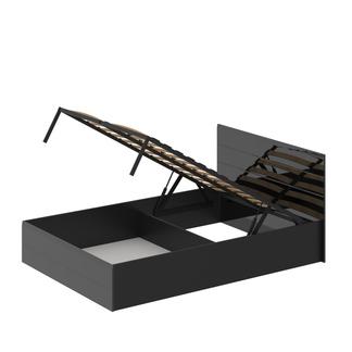Кровать «ЛАЙТ» двуспальная с подъемным механизмом 1400 (цвет - Черный глянец)