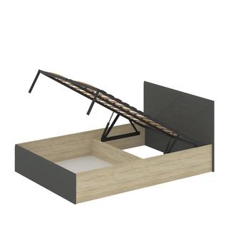 Кровать «ЛАЙТ» двуспальная с подъемным механизмом 1400 (цвет - Серый глянец)