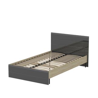 Кровать «ЛАЙТ» односпальная 1200 (цвет - Серый глянец)