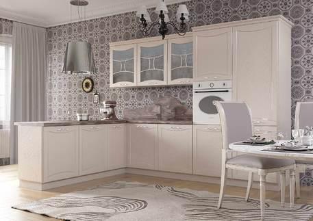 Кухня «САН-МАРИНО АРГЕНТО» (роял вуд кофе, патина серебро)