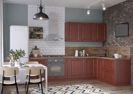 Кухня «БЕРГАМО» (цвет - альберо россo)