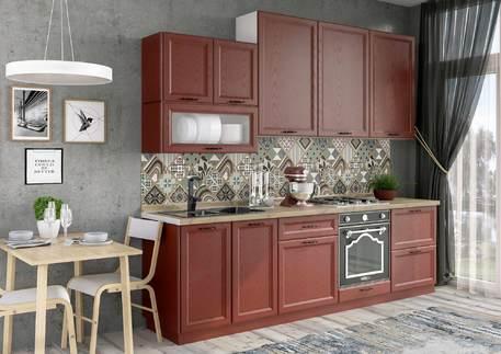 Кухня «БЕВЕРЛИ» (цвет - альберо россо)