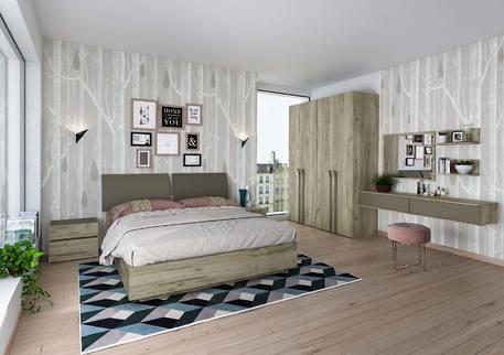 Спальный гарнитур «АСТИ» (цвет - Дуб Craft серый)