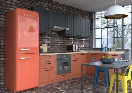 Кухня «ГРАНЖ» (цвет - роял вуд терракот, венге бумажный)