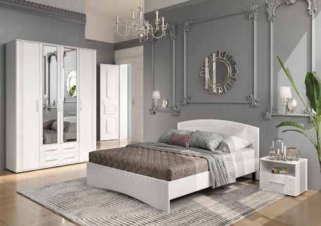 Спальный гарнитур «ОСКАР» (цвет - белый глянец)