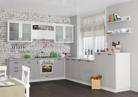Кухня «КАНТРИ» (цвет - роял вуд серый)