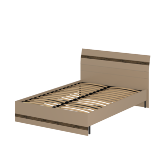 Кровать «АСТИ» двуспальная 1400 (цвет - Макиато, Старое дерево)