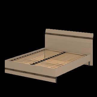Кровать «АСТИ» двуспальная 1600 (цвет - Макиато, Старое дерево)