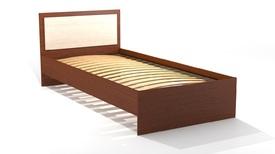 Кровать «ОСКАР» односпальная 900 (цвет - Млечный дуб/ Орех)