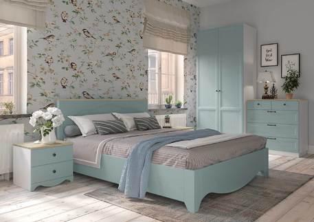Спальный гарнитур «Гала» (цвет - роял вуд голубой)