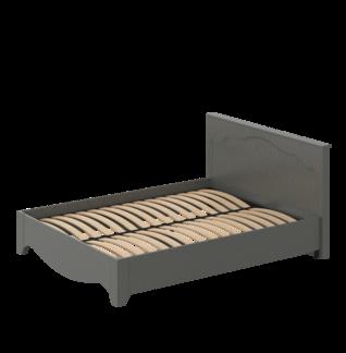 Кровать «ГАЛА» двуспальная 1600 (цвет - Дуб фактурный Антрацит, Антрацит)