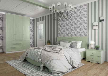 Спальный гарнитур «Гала» (цвет - оливковое деревo)