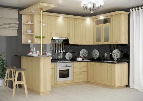 Кухня «ПРОВАНС» (цвет фасадов - беленый дуб)