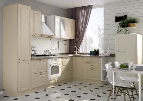 Кухня «КЛАССИКА» (цвет - роял вуд кофе)