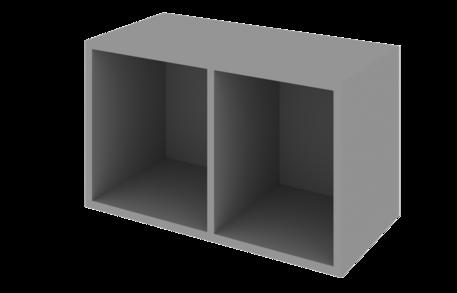 Шкаф 500 низкий открытый с 2 нишами