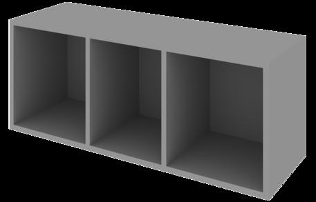 Шкаф 1200 низкий открытый с 3 нишами