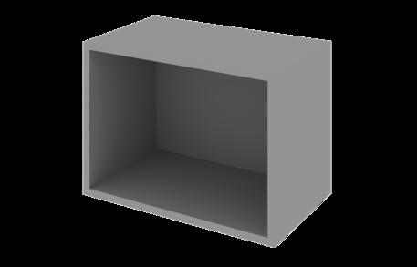 Шкаф 400 низкий открытый