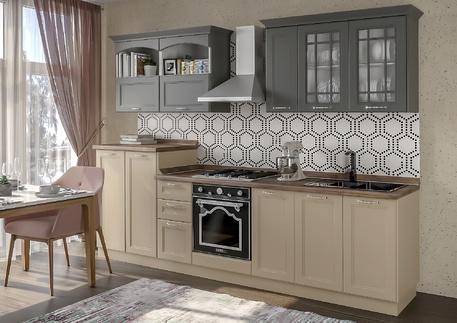 Кухня «СИДНЕЙ» (цвет - силк макадамия, силк флай)