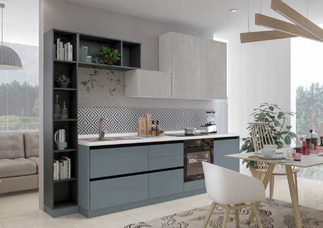 Кухня «СИТИ» (цвет силк топаз, оленна матовая)