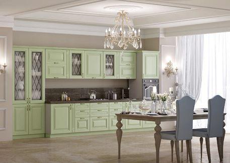 Кухня «СОРЕНТО» (цвет - структура венге фисташка)